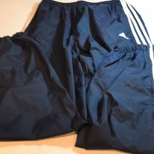 Adidas men's track pants size xl navy